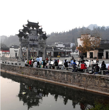 黄山黟县古民居_黄山风景图片大全_中国国旅(上海)