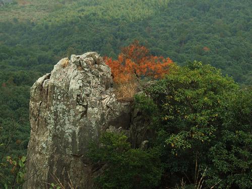 雁苍山 六珠胜的罗汉地 雁苍山风景区坐落于天台山脉东麓,宁海县梅林