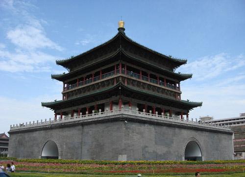 古城明珠 西安钟楼 _西安风景图片大全_中国国旅(上海)