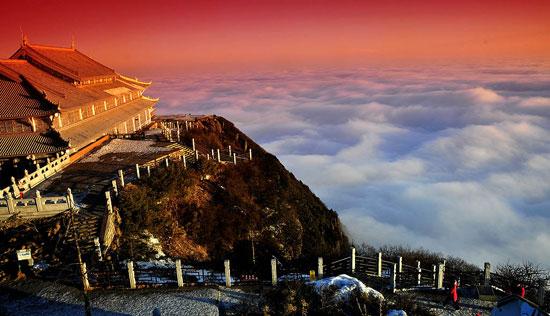 峨眉山风景图片 峨眉山金顶云海图片